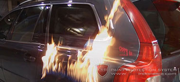 CS-II Paint Protection Fitur 1 Flame Testing