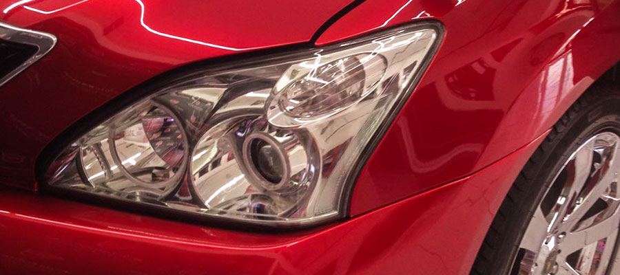 CS-II Paint Protection Red Mazda Headlamp Glossy