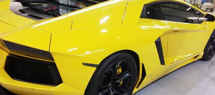 CS-II Paint Protection Yellow Lamborghini Glossy