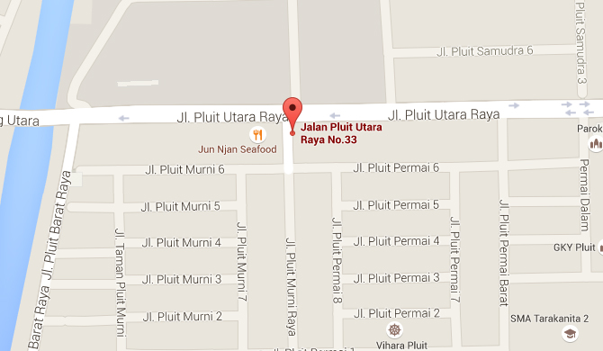 CS-II Autocare Pluit PIK Location Map