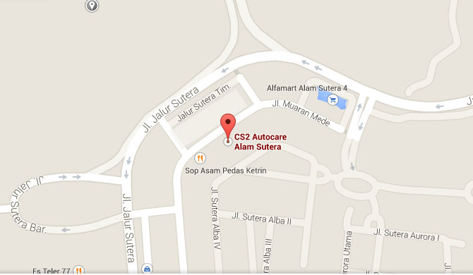 CS-II Autocare Tangerang Location Map