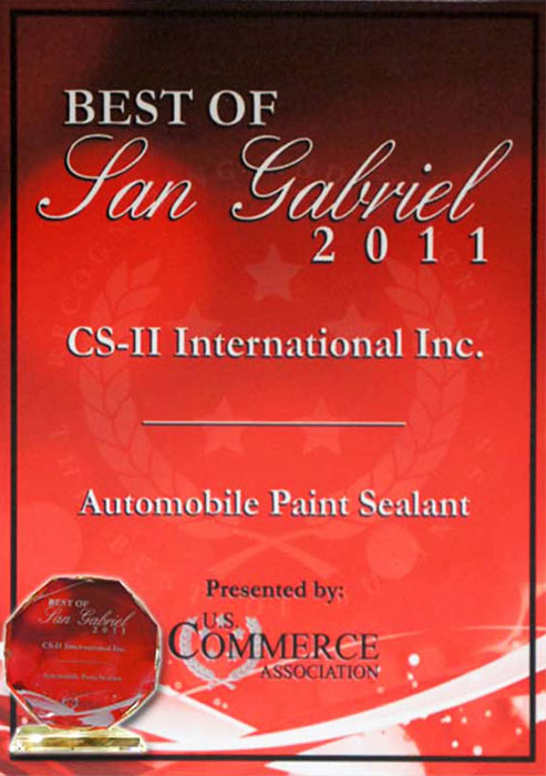 CS-II Paint Protection Indonesia San Gabriel Awards International 2011