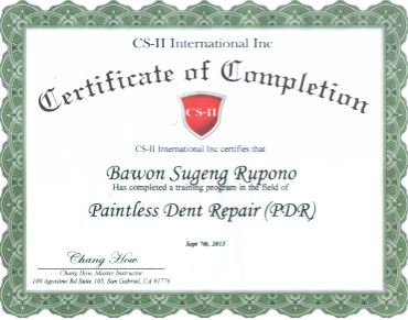 CS-II Paint Protection International Award Bawon Sugeng Rupono
