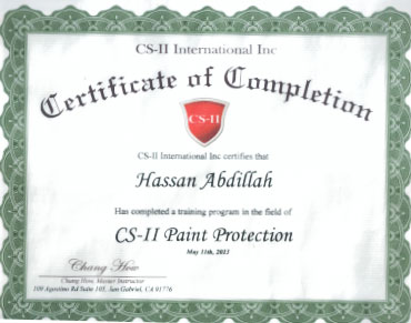 CS-II Paint Protection International Award Hasan Abdillah