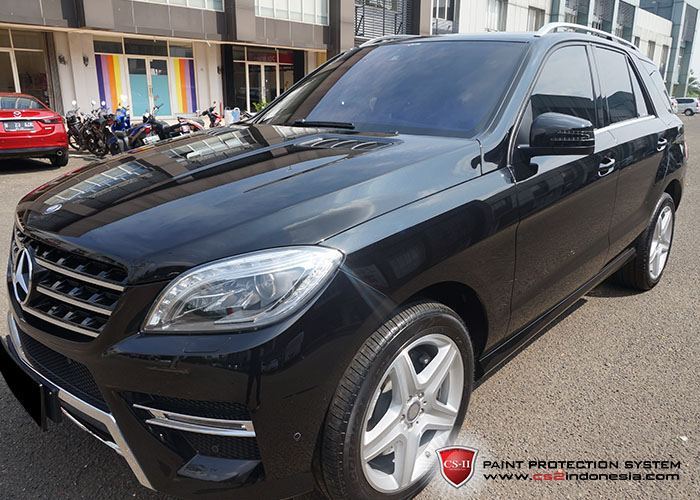 CS-II Paint Protection Indonesia Black Mercedes Bens ML Glossy