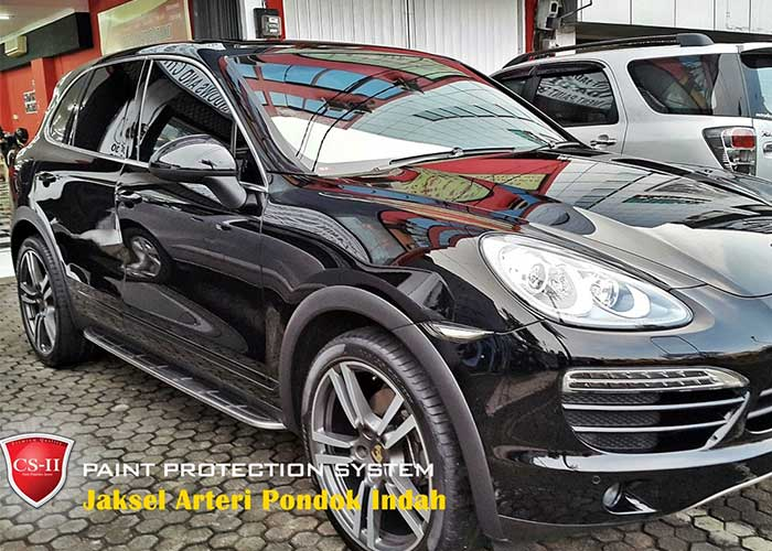 CS-II Paint Protection Indonesia Black Porsche CayenneGlossy