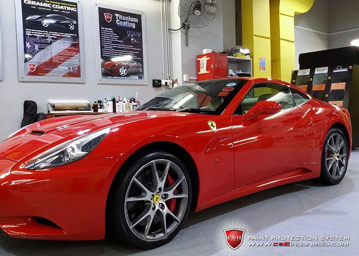 CS-II Paint Protection Indonesia Red Ferrari California Glossy