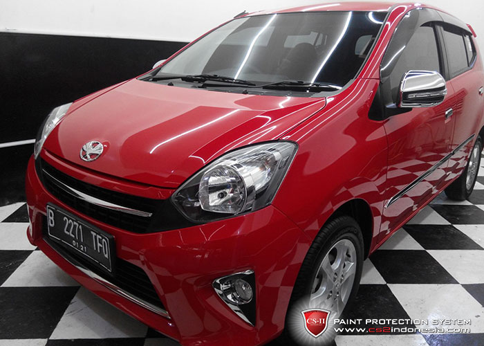 CS-II Paint Protection Indonesia Red Toyota Agya Glossy