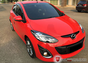 CS-II Paint Protection Indonesia Red Mazda Glossy