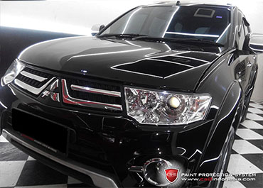 CS-II Paint Protection Indonesia Black Mitsubishi Challenger Glossy