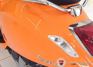 CS-II Paint Protection Indonesia Orange Piaggio Vespa Glossy