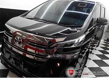 CS-II Paint Protection Indonesia Toyota Vellfire 2016 Glossy